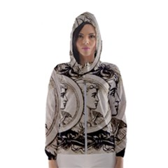 Young Old Man Weird Funny Hooded Wind Breaker (women)