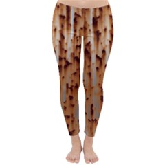 Stainless Rusty Metal Iron Old Classic Winter Leggings