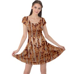 Stainless Rusty Metal Iron Old Cap Sleeve Dress