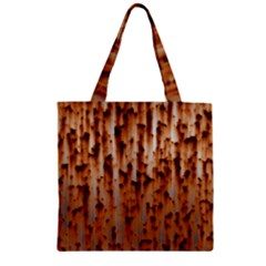 Stainless Rusty Metal Iron Old Zipper Grocery Tote Bag