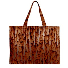 Stainless Rusty Metal Iron Old Zipper Mini Tote Bag