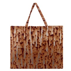 Stainless Rusty Metal Iron Old Zipper Large Tote Bag by Nexatart