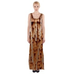 Stainless Rusty Metal Iron Old Maxi Thigh Split Dress