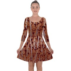 Stainless Rusty Metal Iron Old Quarter Sleeve Skater Dress