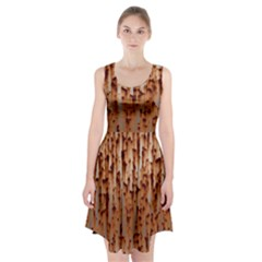 Stainless Rusty Metal Iron Old Racerback Midi Dress