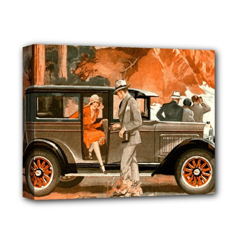 Car Automobile Transport Passenger Deluxe Canvas 14  X 11