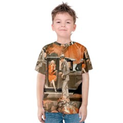 Car Automobile Transport Passenger Kids  Cotton Tee