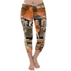 Car Automobile Transport Passenger Capri Winter Leggings