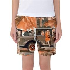 Car Automobile Transport Passenger Women s Basketball Shorts
