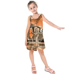 Car Automobile Transport Passenger Kids  Sleeveless Dress