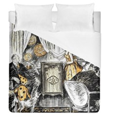 Vintage People Party Celebrate Duvet Cover (queen Size)