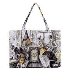 Vintage People Party Celebrate Medium Tote Bag