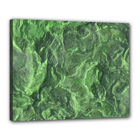 Green Geological Surface Background Canvas 20  X 16