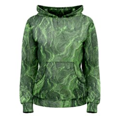 Green Geological Surface Background Women s Pullover Hoodie