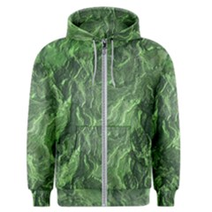 Green Geological Surface Background Men s Zipper Hoodie