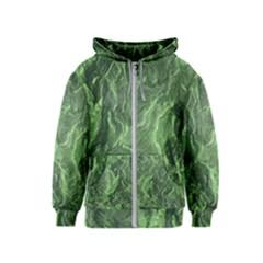 Green Geological Surface Background Kids  Zipper Hoodie