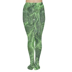 Green Geological Surface Background Women s Tights