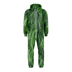Green Geological Surface Background Hooded Jumpsuit (kids)