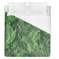 Green Geological Surface Background Duvet Cover (queen Size)