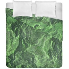 Green Geological Surface Background Duvet Cover Double Side (california King Size)