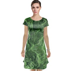 Green Geological Surface Background Cap Sleeve Nightdress