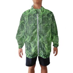 Green Geological Surface Background Wind Breaker (kids)