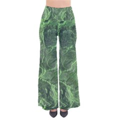 Green Geological Surface Background Pants
