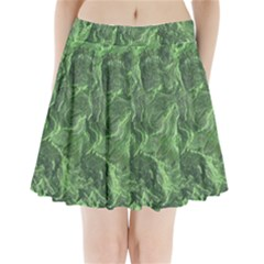 Green Geological Surface Background Pleated Mini Skirt