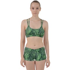 Green Geological Surface Background Women s Sports Set