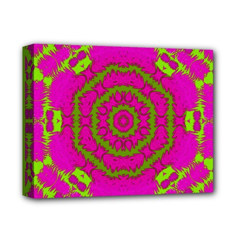 Fern Forest Star Mandala Decorative Deluxe Canvas 14  X 11  by pepitasart