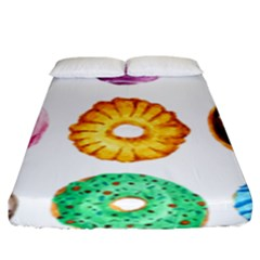 Donuts Fitted Sheet (king Size) by KuriSweets
