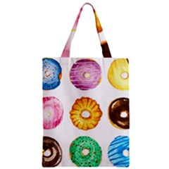 Donuts Zipper Classic Tote Bag by KuriSweets
