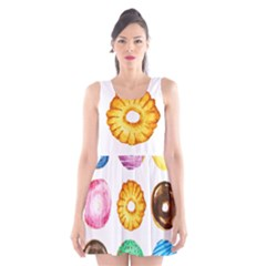 Donuts Scoop Neck Skater Dress by KuriSweets