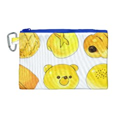 Bread Canvas Cosmetic Bag (large) by KuriSweets