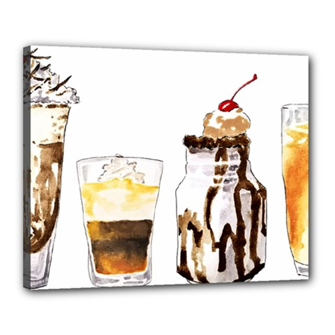 Coffee And Milkshakes Canvas 20  X 16  by KuriSweets