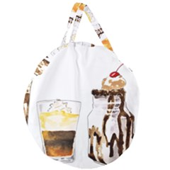 Coffee And Milkshakes Giant Round Zipper Tote by KuriSweets