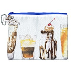Coffee And Milkshakes Canvas Cosmetic Bag (xxl) by KuriSweets