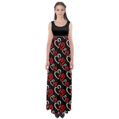 Red Hearts Plus Size 5xl Empire Waist Maxi Dress by Goddess
