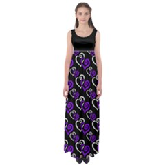 Purple Hearts Plus Size 5xl Empire Waist Maxi Dress by Goddess