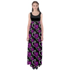 Hot Pink Hearts Plus Size 5xl Empire Waist Maxi Dress by Goddess