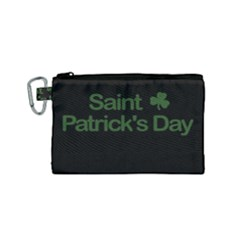 St  Patricks Day  Canvas Cosmetic Bag (small) by Valentinaart