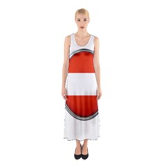 Austria Country Nation Flag Sleeveless Maxi Dress