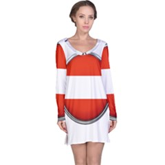 Austria Country Nation Flag Long Sleeve Nightdress