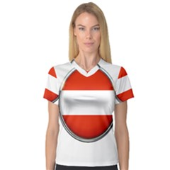 Austria Country Nation Flag V Neck Sport Mesh Tee