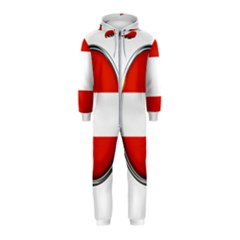Austria Country Nation Flag Hooded Jumpsuit (kids)