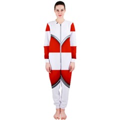 Austria Country Nation Flag Onepiece Jumpsuit (ladies)