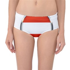 Austria Country Nation Flag Mid Waist Bikini Bottoms