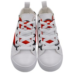 Austria Country Nation Flag Kid s Mid Top Canvas Sneakers