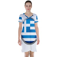 Greece Greek Europe Athens Short Sleeve Nightdress
