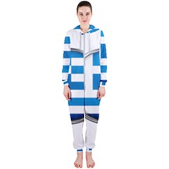 Greece Greek Europe Athens Hooded Jumpsuit (ladies)
